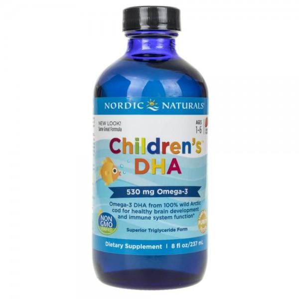 Nordic Naturals Children's DHA dla dzieci o smaku truskawkowym - 237 ml