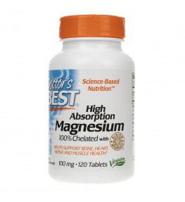 Doctor's Best Chelat Magnezu (Magnesium Chelated) - 120 tabletek