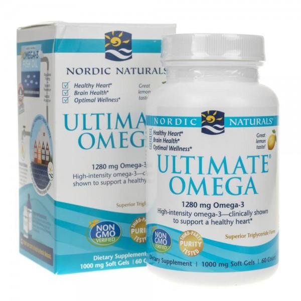Nordic Naturals Ultimate Omega smak cytrynowy - 60 kapsułek