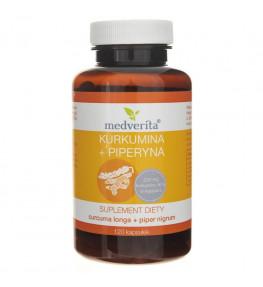 Medverita Kurkumina + Piperyna - 120 kapsułek