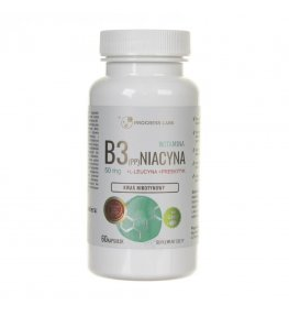 Progress Labs Niacyna Witamina B3 (PP) 50 mg + Inulina - 60 kapsułek