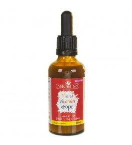 Natures Aid Multiwitamina dla dzieci w kroplach - 50 ml