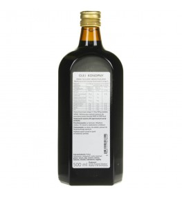 Olvita Olej konopny zimno tłoczony nieoczyszczony - 500 ml