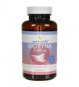 Medverita Biotyna witamina B7 (H) 2500 µg - 180 kapsułek
