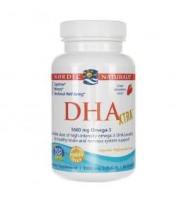 Nordic Naturals DHA Xtra 1660 mg smak truskawkowy - 60 kapsułek