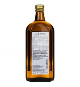 Olvita Olej lniany do diety dr Budwig zimno tłoczony nieoczyszczony - 500 ml