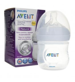 Philips Avent Butelka Natural ze smoczkiem 0m+ - 125 ml 1 + 1 GRATIS