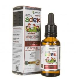 Wish ADEK Junior FORTE dla dzieci - 30 ml