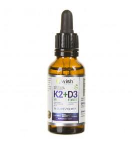 Wish Witamina K2 MK-7 + D3 FORTE w kroplach - 30 ml