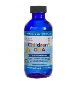 Nordic Naturals Children's DHA dla dzieci o smaku truskawkowym - 119 ml