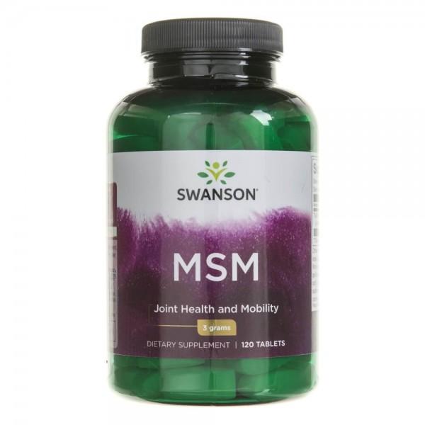 Swanson MSM TruFlex (siarka organiczna) 1500 mg - 120 tabletek