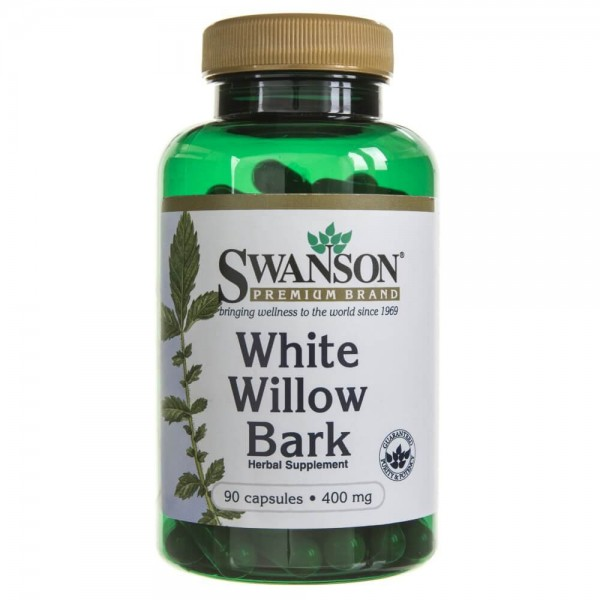 Swanson White Willow Bark (kora wierzby białej) 400 mg - 90 kapsułek