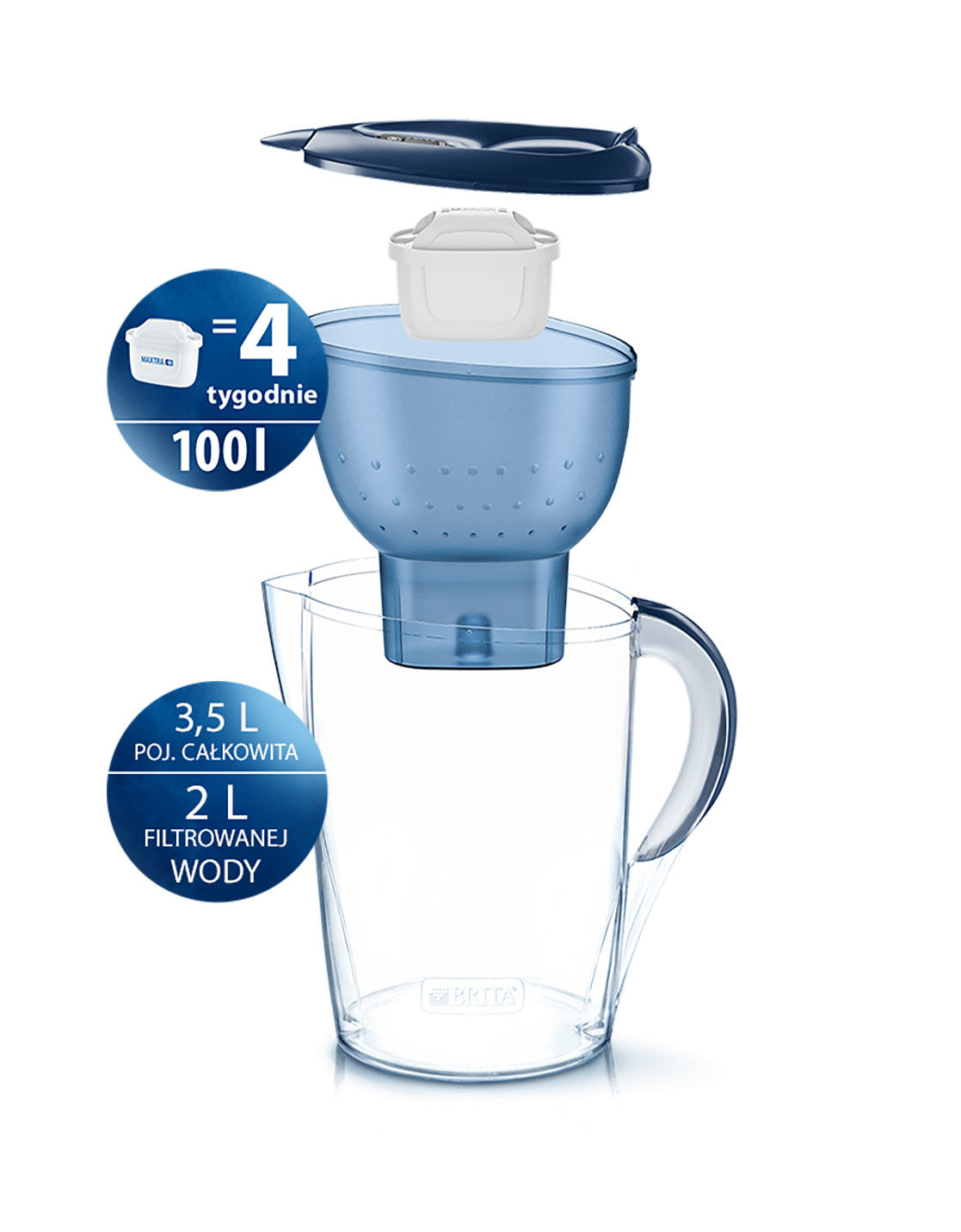 Brita Dzbanek filtrujący Marela XL MX Plus 3,5 L - Niebieski