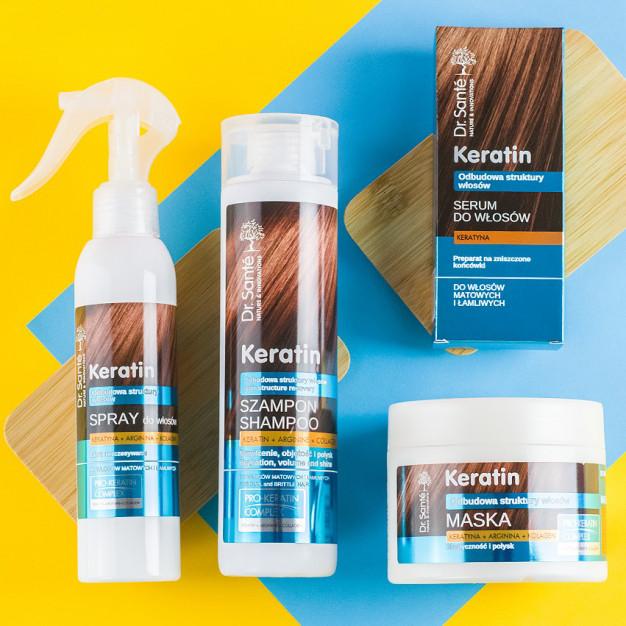 Dr. Sante Keratin - szampon z keratyną, argininą i kolagenem - 1000 ml